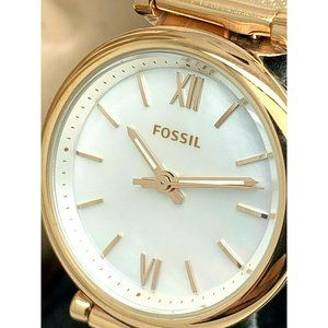 Fossil Women's Watch ES4433 Rose Gold Tone Mesh
